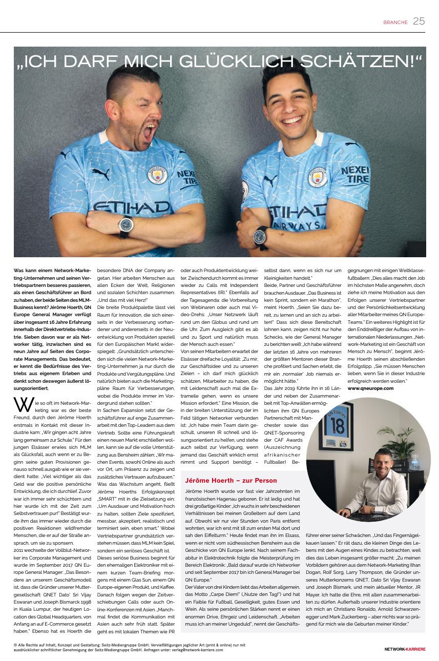 QN Europe Presseberichte Network Karriere 01.2021